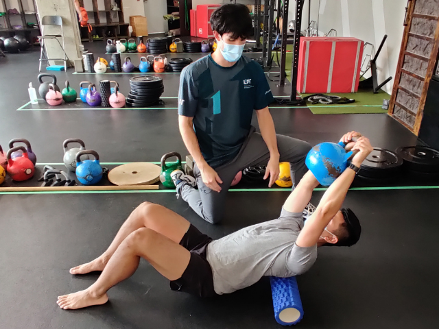 return to physio chiro emt in the gym